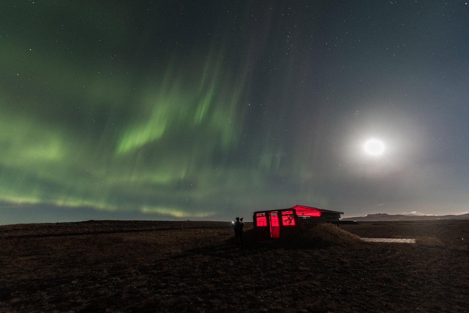 Northern lights over Hotel Rangá observatory, Friday October 26, 2018.